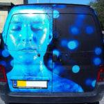 Folie reklame på bil med folie print og tryk